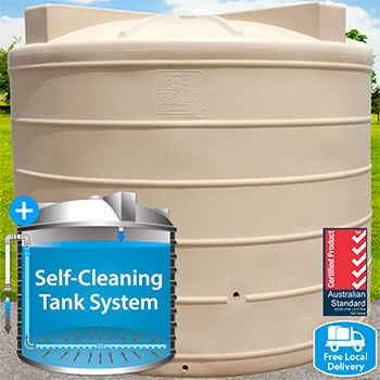 10,000L Round Self-Cleaning Tank