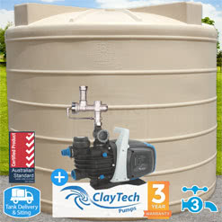 10000L Round Tank w/ CMS4A Rainwater Management System