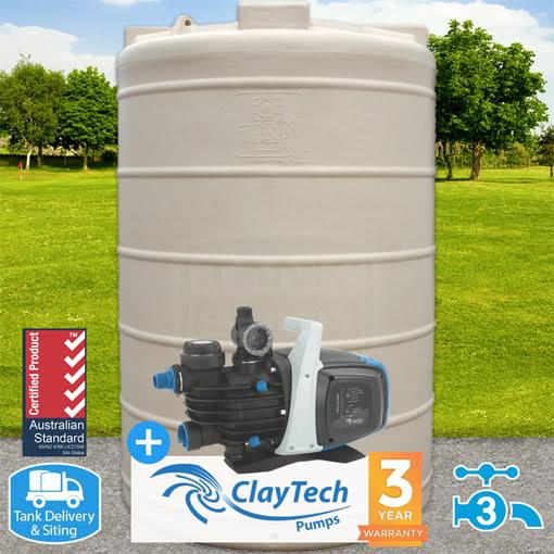 3000l Round Tank w/ ClayTech C3 Pump