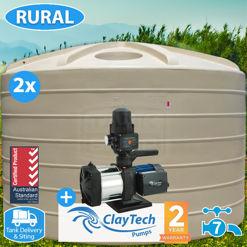 45,400L (2x 5000 GAL) Tank & Inox Pump Package