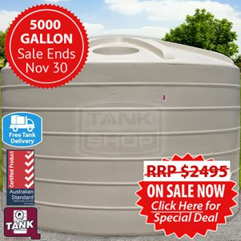 5000 Gallon Tank Sale (November)