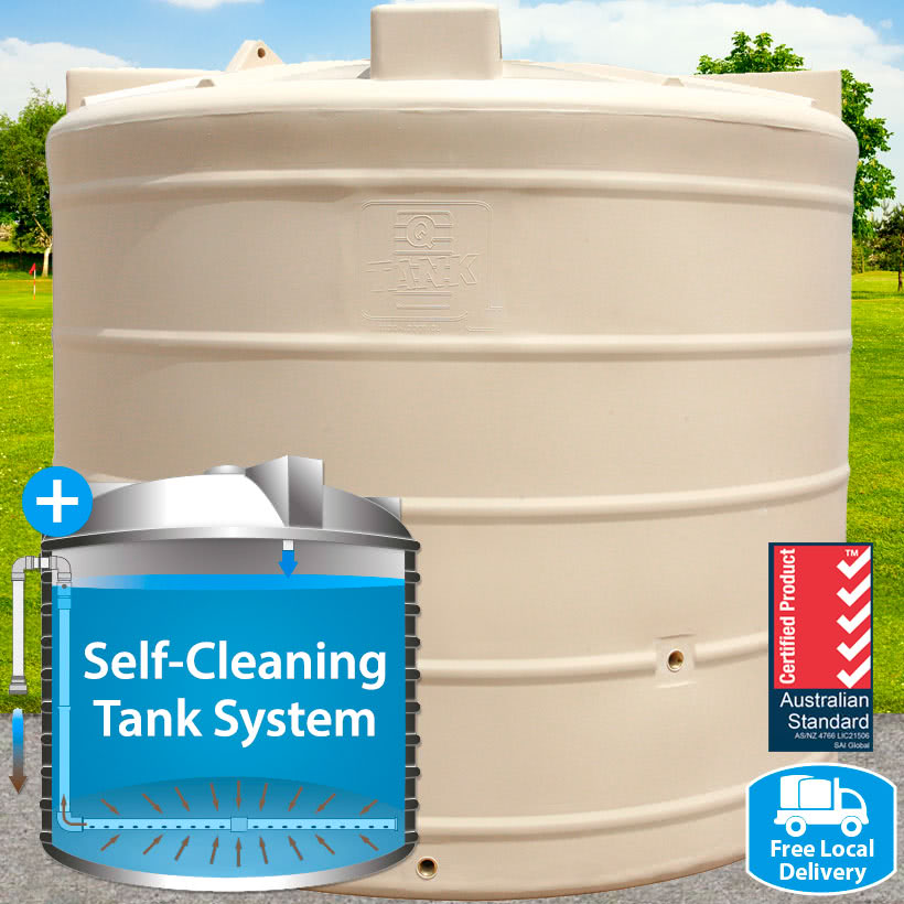 5,000L Mid Round Self-Cleaning Tank