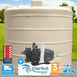 "5000l Round ""Mid"" Tank w/ ClayTech C3 Pump"