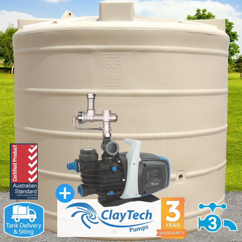 """5000L Round """"Mid"""" Tank, Pump & Auto-Switch Package"""