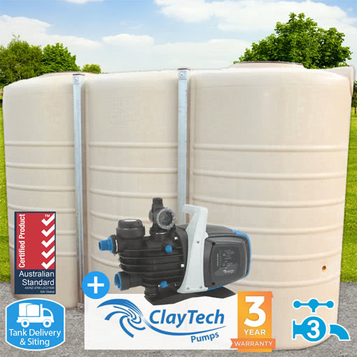 5000l Slimline Tank w/ ClayTech C3 Pump