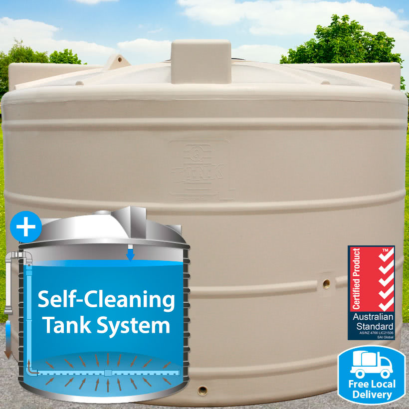 5,000L Squat Round Self-Cleaning Tank