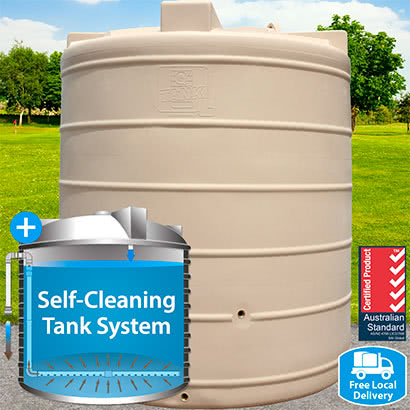 5,000L Tall Round Self-Cleaning Tank