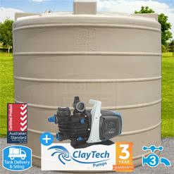 7500l Round Tank w/ ClayTech C3 Pump