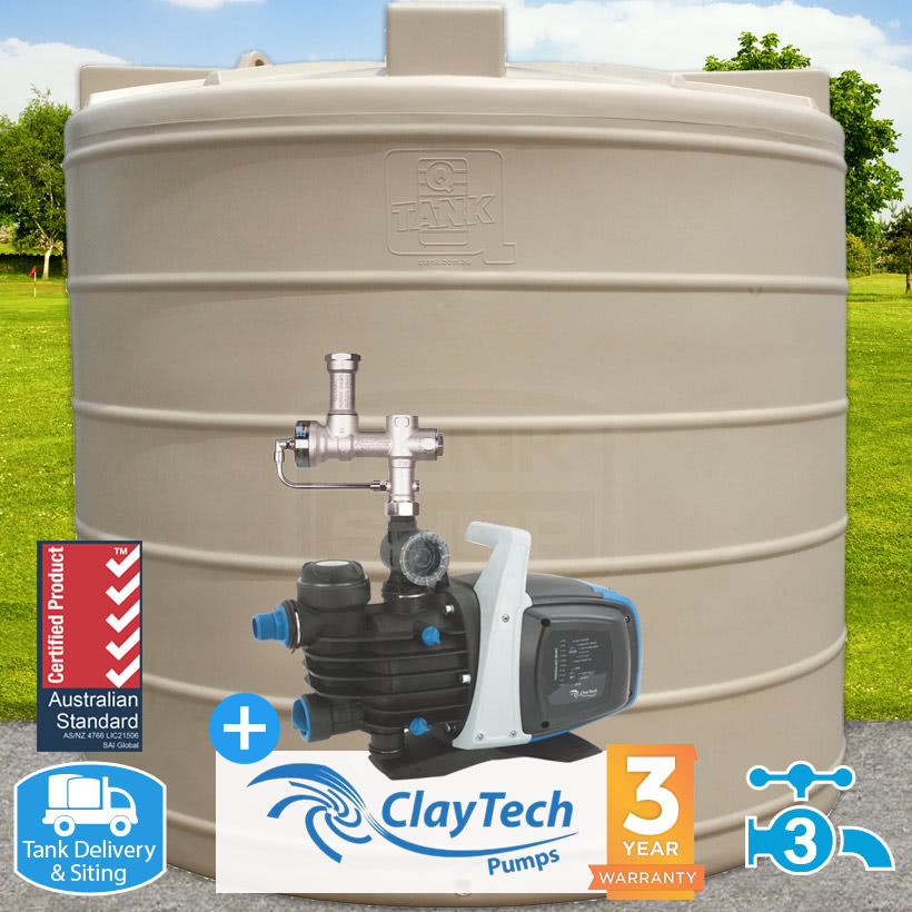 7500L Round Tank, Pump & Auto-Switch Package
