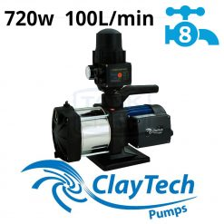 ClayTech Inox 240A Rainwater Pressure Pump External Multi-Stage