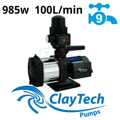 ClayTech Inox 250A Rainwater Pressure Pump External Multi-Stage
