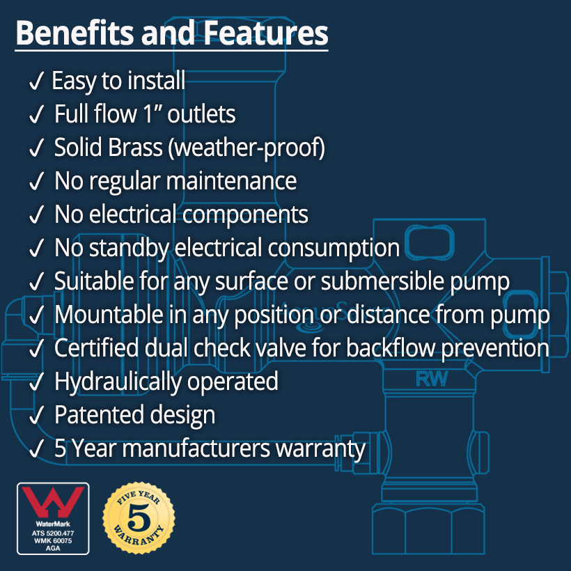 AcquaSaver Valve Benefits