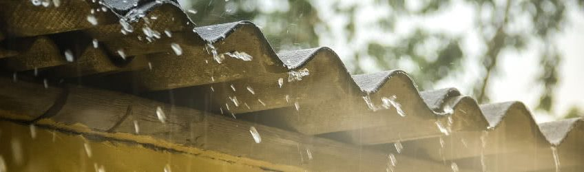 Rainwater on Asbestos Rooftop-