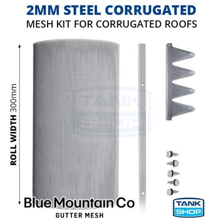 2mm Steel Corrugated Gutter Mesh