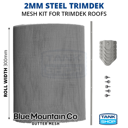 2mm Steel TRIMDEK Gutter Mesh