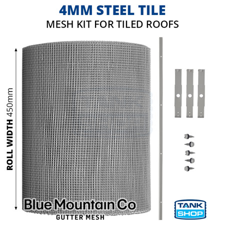 4mm Steel Tile Gutter Mesh