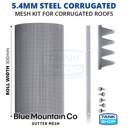 5.4mm Steel Corrugated Gutter Mesh