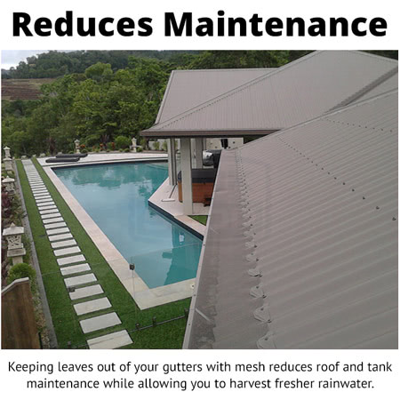 BMC Gutter Mesh - Reduces Roof and Tank Maintenance