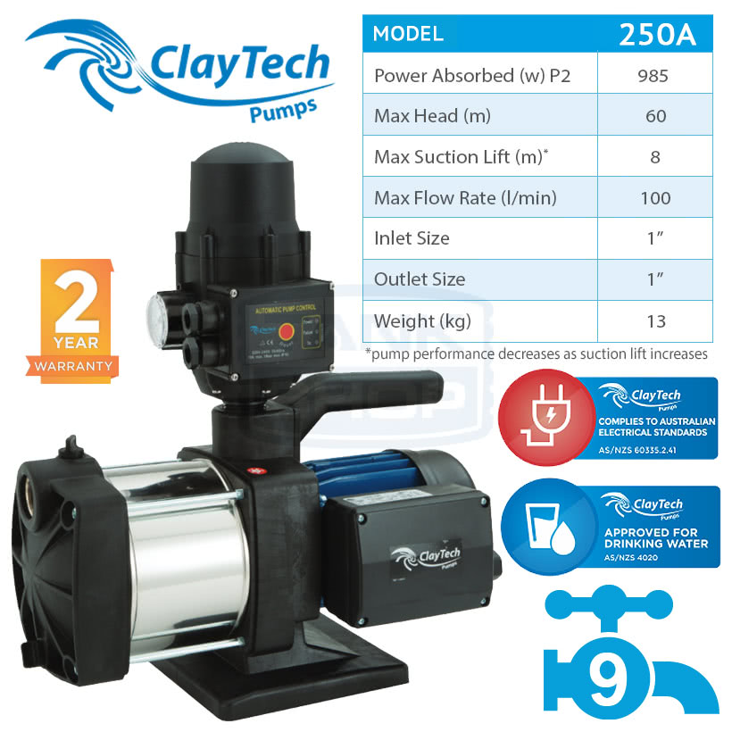 ClayTech Inox 250A Pump
