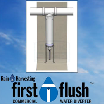 Commercial First Flush Water Diverter - Rain Harvesting