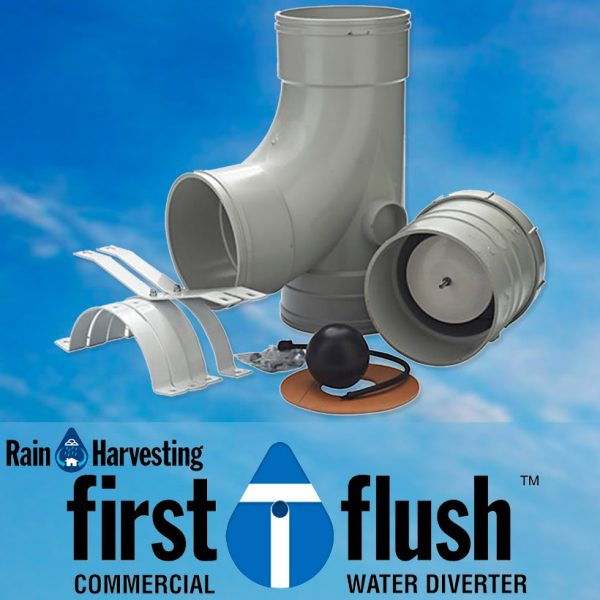 Commercial Downpipe First Flush Water Diverter - Rain Harvesting