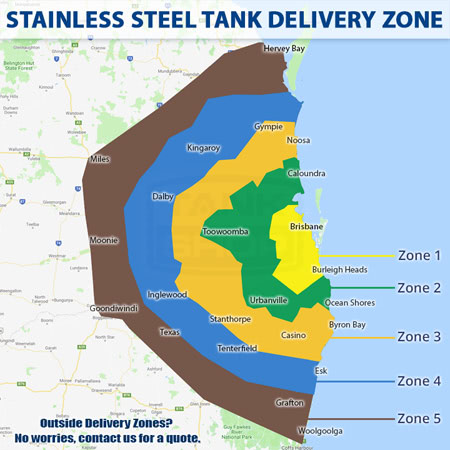 Stainless Steel Tank Delivery Zones