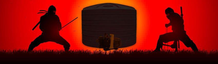 Hiding Rainwater Tank & Water Pump