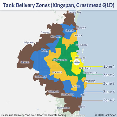 Tank Delivery Zones - Kingspan, Smithfield QLD