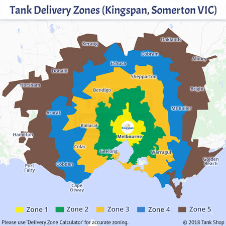 Tank Delivery Zones - Kingspan, Somerton Victoria