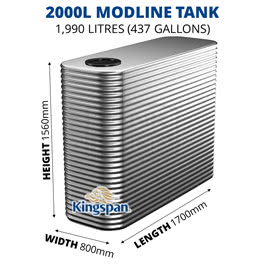2000L Modline Aquaplate Steel Tank