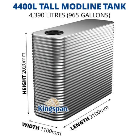 4400L Tall Modline Aquaplate Steel Tank