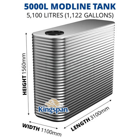 5000L Modline Aquaplate Steel Tank
