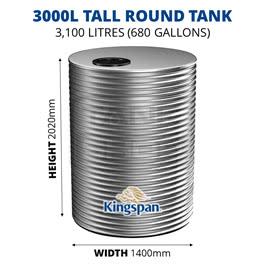 3000L Tall Round Aquaplate Steel Tank (Kingspan)