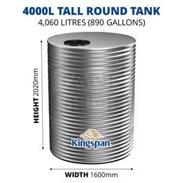 4000L Tall Round Aquaplate Steel Tank (Kingspan)