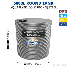 5000L Round Aquaplate Steel Tank (Kingspan)