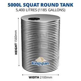 5000L Squat Round Aquaplate Steel Tank (Kingspan)