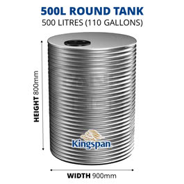 500L Round Aquaplate Steel Tank (Kingspan)