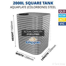 2000L Square Aquaplate Steel Tank
