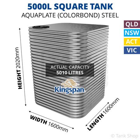 5000L Square Aquaplate Steel Tank