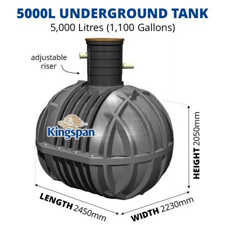Kingspan 5000L Underground Tank