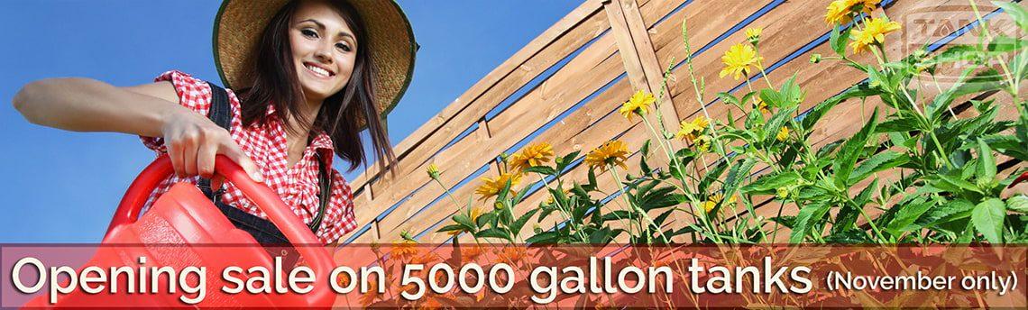 Opening Sale 5000 Gallon Tank