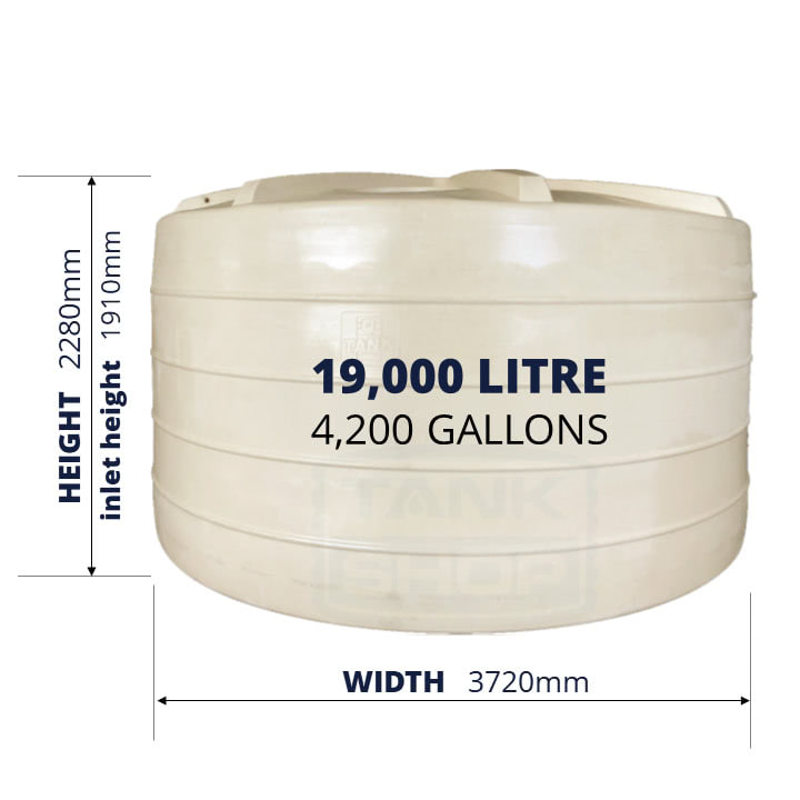 QTank 19000l 4200gal water tank dimensions