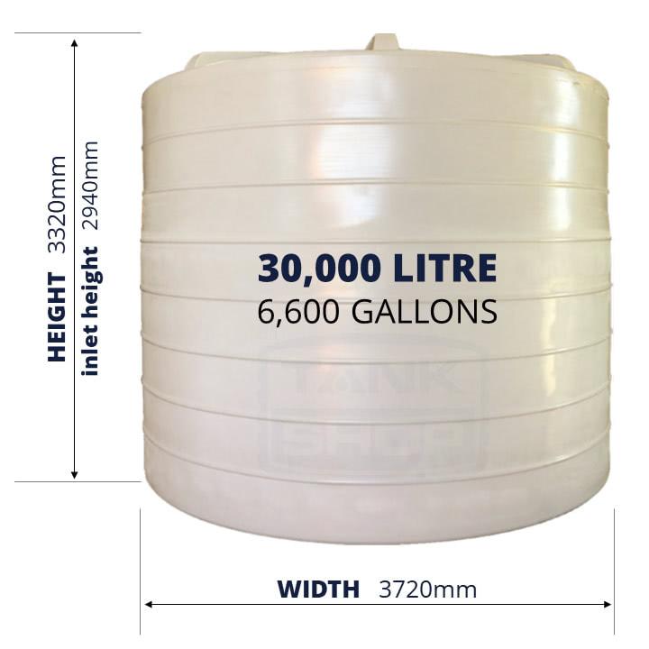 QTank 30000l 6600gal water tank dimensions