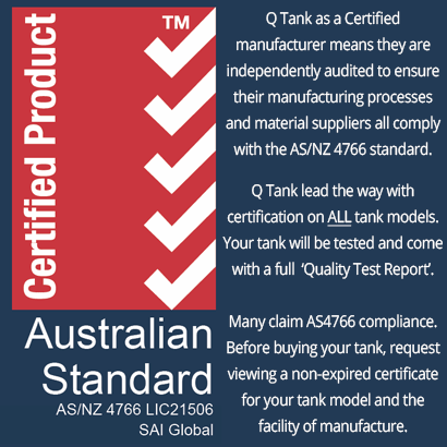 Australian Standards (AS/NZ 4766) Certified