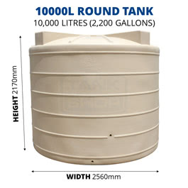 10000L Round Poly Tank (QTank)