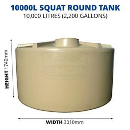 10000L Squat Round Poly Tank (QTank)