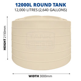 12000L Round Poly Tank (QTank)
