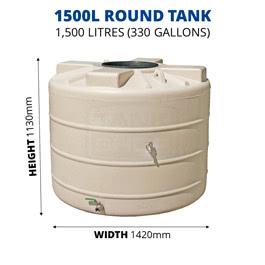 1500L Round Poly Tank (QTank)