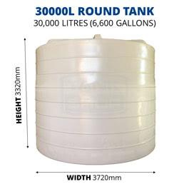 30000L Round Poly Tank (QTank)