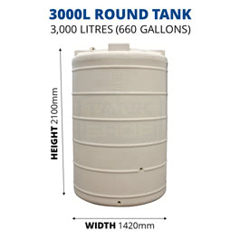 3000L Round Poly Tank (QTank)